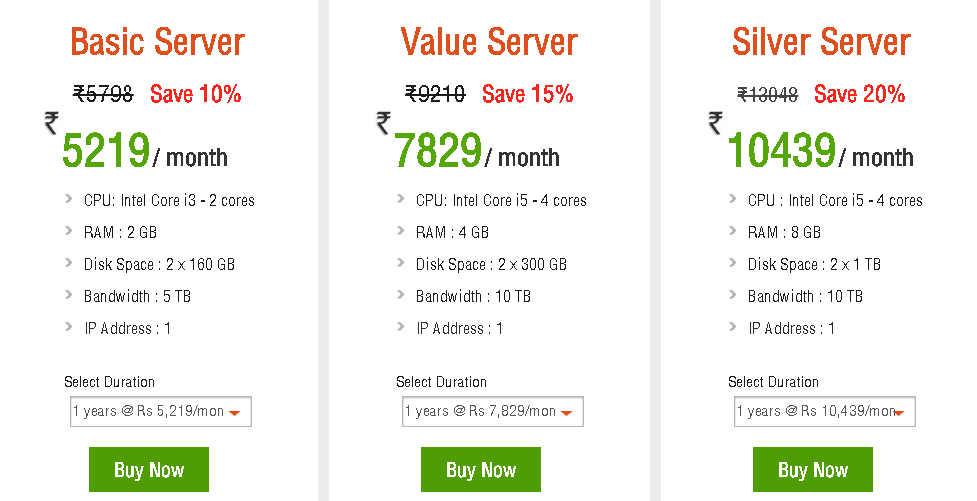 Ecommerce Hosting servers